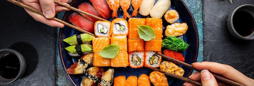 Plat des sushis